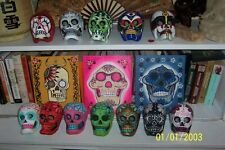 1 Paper Mache Sugar Skull; Hand-painted Dia de los Muertos; Day of the Dead Art