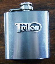 TRITON Logo 3oz Stainless Hip Flask FREE UK POST Motorcycle Motorbike