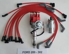 SMALL BLOCK FORD 289-302 RED Small HEI Distributor, 40K COIL & SPARK PLUG WIRES