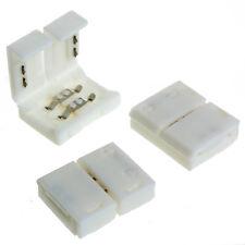 10 Stück 8mm 2Pin einfarbig LED Strip Leiste Schnell Verbinder Adapter Stecker