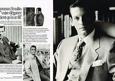 PUBLICITE ADVERTISING 094  1991  FRANCESCO SMALTO haute couture parfum homme (2p