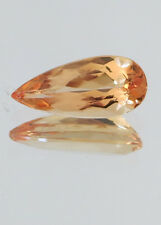 1.34ct OURO PRETO AREA UNTREATED GEM IMPERIAL PRECIOUS TOPAZ PEAR BRILLIANT V