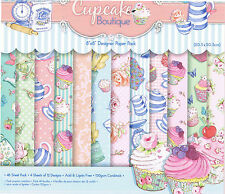 "Cupcake Boutique - 48 Hojas Pk-Dovecraft 8 x 8 ""Papel Scrapbook -"