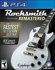 NEW Rocksmith 2014 Edition Remastered (Sony PlayStation 4, 2016)