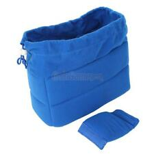 Blue DSLR Partition Padded Camera Bag Insert Case SLR Shockproof For Canon Nikon