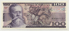 Mexico 100 Pesos 25-3-1982 Pick 74.c UNC Uncirculated Banknote Serie VF