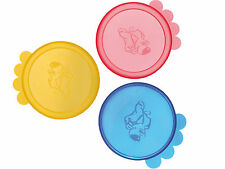 Pack Of 3 Dog Cat Small 400g Size Pet Can Food Lids(24551)TRIXIE plastic