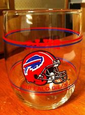 "Buffalo Bills NFL Gas Station Give Away 3 1/2"" Glass Tumbler. Excellent!"