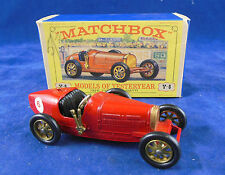 Scarce Box Matchbox Yesteryear Y6 1926 Type 35 Bugatti Red Issue 9 Type E Box
