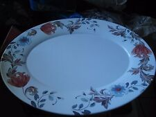 """SOUTHERN LIVING DILLARD'S EARTHENWARE 15"""" HARVEST ACANTHUS OVAL PLATTER  NEW"""