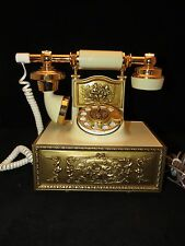 Vintage Western Electric French Style Rotary Phone Ivory Gold by Deco-Tel WORKS
