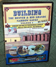 "20104 MODEL RAILROAD VIDEO DVD ""BUILDING THE D&RG VOL.1"" HO SCALE"
