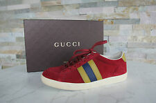 ORIG gucci talla 39 g sneakers schnürschuhe zapatos Shoes Scarpe red PVP 365 €