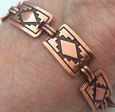 "Copper Bracelet 7 1/2"" Linked Wheeler Mountain Arthritis Healing Folklore cb 244"