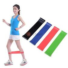 Set of 4 Exercise Ankle Resistance Loop Bands Elastic Strap f Strength Training