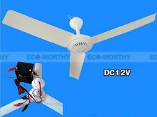 New 12 V DC 50 cm Portable Mini Ceiling Fan + Battery Cord with Alligator Clips