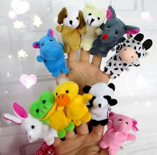 10pcs Xmas Gift Soft Animal Finger Doll Hand Puppet For Kid Learn Playing Game