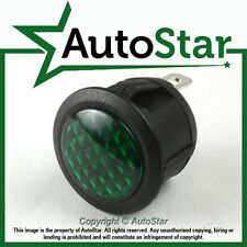 Green LED Warning Light Chrome 12v 12 volt Dashboard Panel Indicator Classic Car