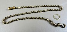 Fan Pull Gold Ball Chain 12 inch - Antique Gold in color not bright and shiny