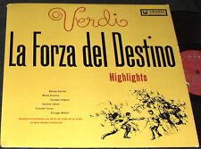 VERDI La Forza Del Destino Highlights LP URANIA RECORDS UR-7175