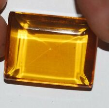 Certified 86.35 Ct. Translucent Yellow Citrine Emerald Shape Brazilian Gems 104