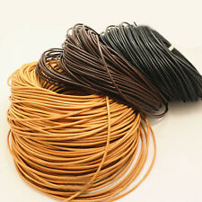 5M/10M/50M/100M Real Genuine Leather DIY Necklace Charms Rope Cord 3mm