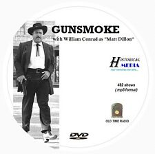 GUNSMOKE - 482 Shows Old Time Radio In MP3 Format OTR On 1 DVD