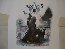 Ubisoft Assassin's Creed III 3 Video Game Connor Kenway Cover White T Shirt M