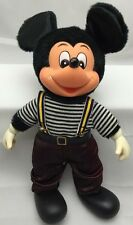 "Italy Mickey Mouse 10"" Plush/Plastic Young Epoch, Vintage Walt Disney"
