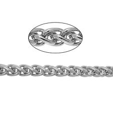 3.28 ft  Silver tone Foxtail Link Chain 11x8 mm for Jewelry making  DIY