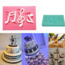 Musical Note Silicone Fondant Mold Cake Sugarcraft Decorating Chocolate Mould WB