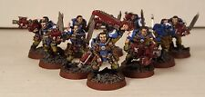 Warhammer 40K Space Marine Ultra Marine Army Scout unit Metal Painted figures 1