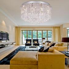 Cristallo moderna incasso con 15 luci in rotondo G4 lampadario luce di soffitto