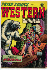 Prize Comics Western 109 1955 GD American Eagle Indian Headdress John Severin