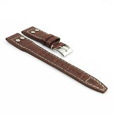 DASSARI Aviator Croc Embossed Leather Band Watch Strap for IWC Big Pilot