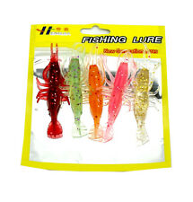 10pcs/Lot Crawx Shrimp Soft Lures Fishing Lures Bass Bait JigFish Tackle 8cm/3g