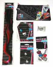 MONSTER HIGH bulk lot of jewellery, hair extensions + case B/NEW