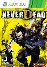 NeverDead XBOX 360 NEW! NEVER DEAD, SHOOTER, HUNT DEMONS, BATTLE, GUN FIGHT