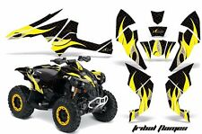 AMR Racing CanAm Renegade500/800/1000 Graphic Kit Wrap Quad Decal ATV All TF YLW
