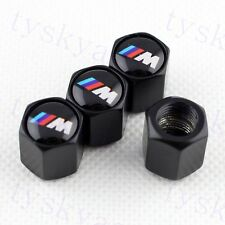 Auto Tire Tyre Valve Stems Cap Dust Cover For BMW M Accessories Black Style