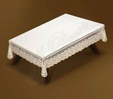 "Rectangular lace cream/dark gold Tablecloth 140x240cm(55""x94"") perfect gift"