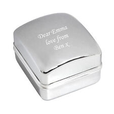 Engraved Chrome Ring box - Weddings, Engagement, Proposal Box - Free Engraving