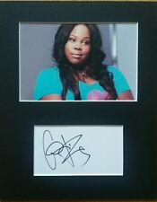 Amber Riley, 'Glee' hand signed mounted autograph.