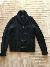 Louis Vuitton Men's Wool Cashmere Navy Cardigan Sweater Medium