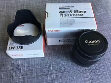 Canon EF-S 15-85mm f/3.5-5.6 IS USM Lens USA