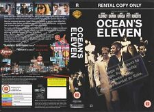Oceans Eleven, George Clooney VHS Video Promo Sample Sleeve/Cover #9083