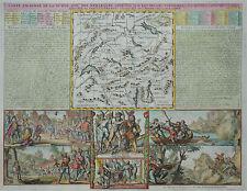Schweiz Tellsage - Carte Ancienne de la Suisse... - Chatelain 1719 - Original