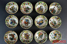 Collectible China Handwork Porcelain Painting Chinese 12 Belle Little Bowl