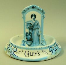 CALEYS TABLE WATERS ADVERTISING PORCELAIN MATCH HOLDER / STRIKER C.1915
