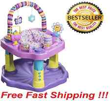 NEW Evenflo Pink Purple Sweet Tea Party Cupcake Activity Center Gym Exersaucer